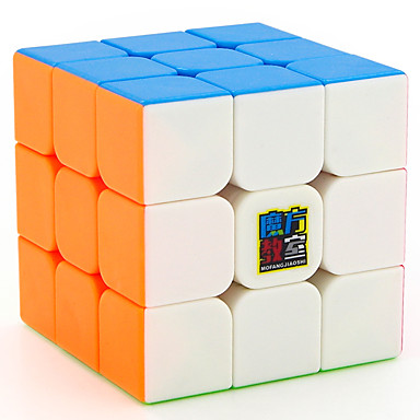 Rubik's Cube MoYu 3*3*3 Smooth Speed Cube Magic Cube Educational Toy Stress Reliever Puzzle Cube Smooth Sticker Gift Unisex