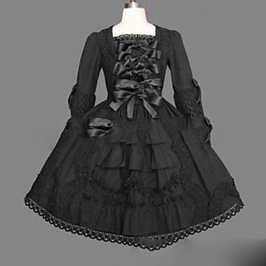 Gothic Lolita Princeznovské Punk Dámské Dívčí Jednodílné Šaty Cosplay Košíček Dlouhý rukáv Krátký / Mini