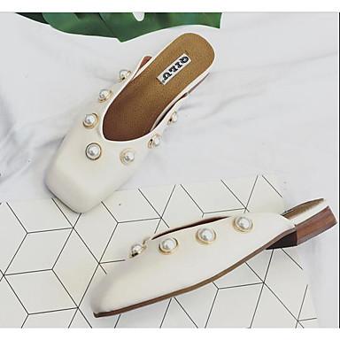 Naiset Kengät PU Kevät Comfort Sandaalit varten Kausaliteetti Musta Beesi