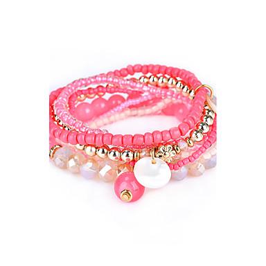Dámské Strand Náramky Šperky Cikánské příroda Měsíční kámen Dárkové krabice a tašky Rock Natahovací Pryskyřice Circle Shape Šperky