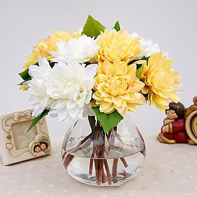 1 Ast Polyester Kunststoff Pfingstrosen Tisch-Blumen Künstliche Blumen