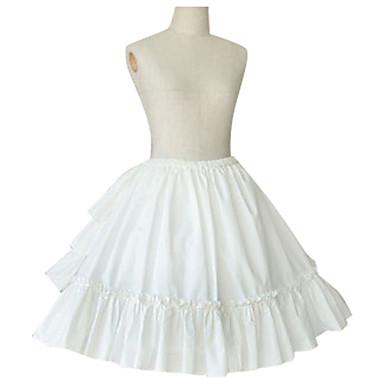 Hameet Gothic Lolita Prinsessa Cosplay Lolita-mekot Musta Valkoinen Muut Lyhyt / mini Hame varten
