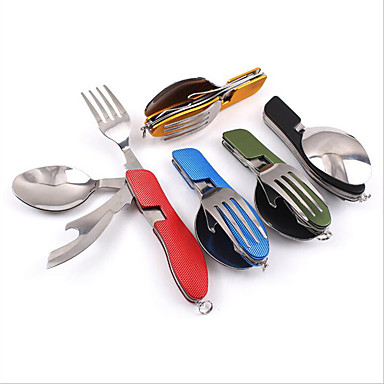 cheap Camp Kitchen-Camping Eating Utensil Set Camping Spork Collapsible for Stainless Steel Outdoor Camping Outdoor Picnic
