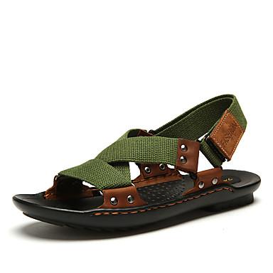 Herrn Schuhe PU Sommer Komfort Sandalen für Draussen Schwarz Grün