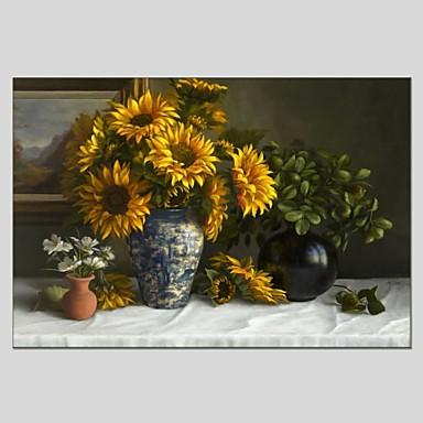 Pintados à mão Vida Imóvel Panorâmico horizontal, Abstracto Tela de pintura Pintura a Óleo Decoração para casa 1 Painel