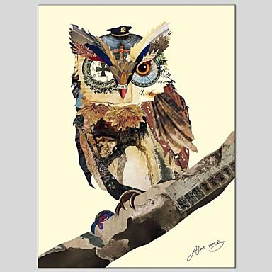Pintados à mão Animais Panorâmico vertical, Abstracto Tela de pintura Pintura a Óleo Decoração para casa 1 Painel