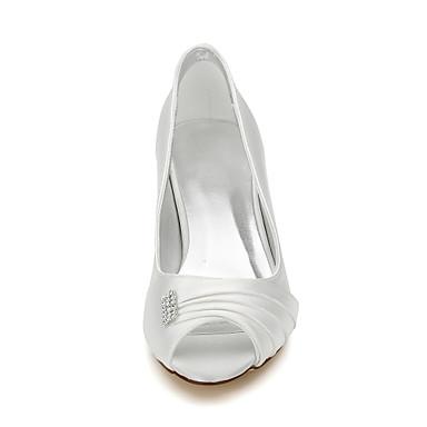 Femme Chaussures ouvert Chaussures Printemps Automne rond Talon Evénement 05939545 Soie de Ivoire Bas Bout mariage Bout amp; Soirée rrfqdRw