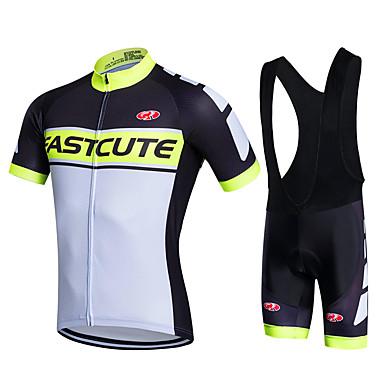 Fastcute Fahrradtrikot mit Trägerhosen Herrn Fahhrad Bib - Shorts/Kurze radhose MIT Trägern Sweatshirt Trikot/Radtrikot Jacke