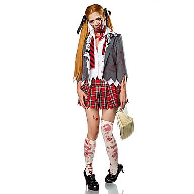 Bloody Mary Cosplay Kostuums Feestkostuum Dames Halloween Carnaval Oktoberfest Festival / Feestdagen Halloweenkostuums Wit + rood Vintage