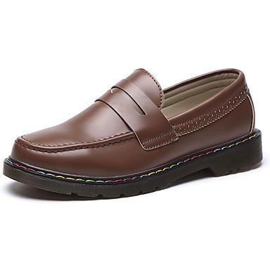 Miesten kengät PU Kevät Syksy Comfort Oxford-kengät varten Urheilullinen Musta Beesi Ruskea
