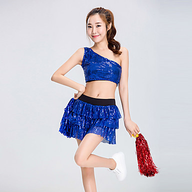 me cheerleader pukuja puku naisten suorituskykyisen polyesterin paljetein 2 kpl