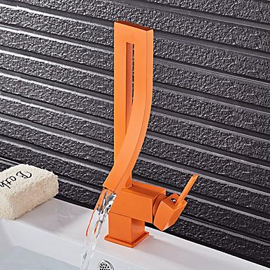 Nykyaikainen Muoti Integroitu Pyörivä Keraaminen venttiili Yksi kahva yksi reikä Maalaus, Kylpyhuone Sink hana