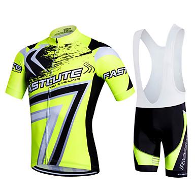 Fastcute Wielrenshirt met strakke shorts Heren Dames Kinderen Unisex Korte mouw Fietsen Fietsbroeken/Broekje Sweatshirt Shirt