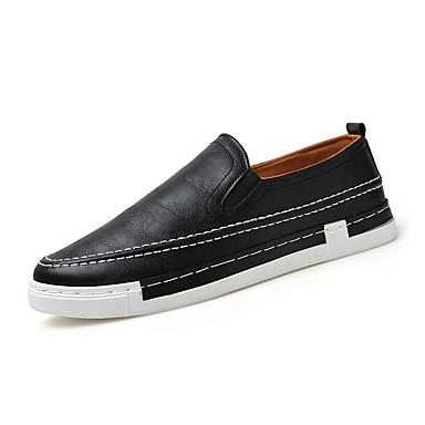 Herren Schuhe Leinwand Frühling Komfort Loafers & Slip-Ons Für Normal Weiß Schwarz Blau