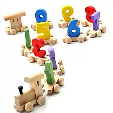 Bausteine Spielzeuge Schleppe Holz Kinder Stücke