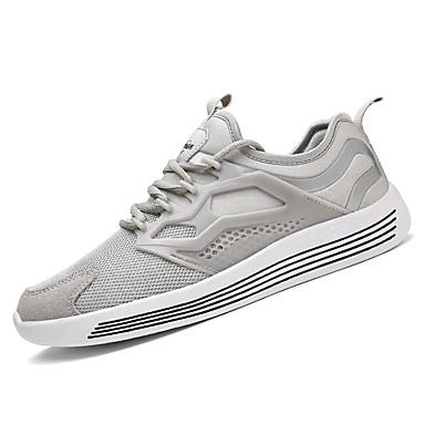 Homens sapatos Couro Ecológico Tule Primavera Verão Moderna Casual Fashion Tênis Cadarço para Esporte Diário Roupas para Lazer Preto