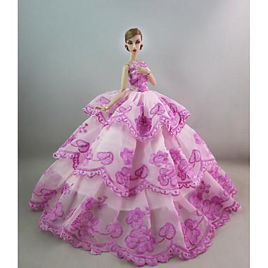 Festa/Noite Vestidos Para Boneca Barbie Para Menina de Boneca de Brinquedo