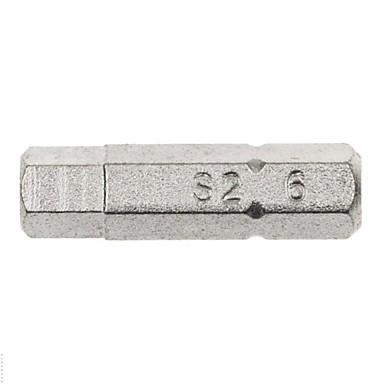 Ocelový štít 5 ks 6.3 mm série 25 mm dlouhý šest hranatý s hlavou h6 / 1 sada