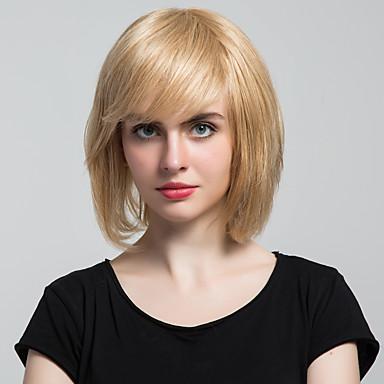Krásné bobo capless paruky lidské vlasy paruky