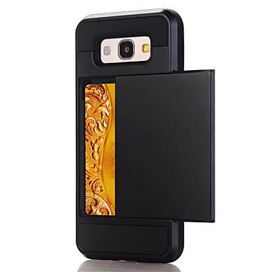 Capinha Para Samsung Galaxy A5(2017) A3(2017) Porta-Cartão Capa traseira Côr Sólida Rígida PC para A3 (2017) A5 (2017) A7 (2017) A7(2016)