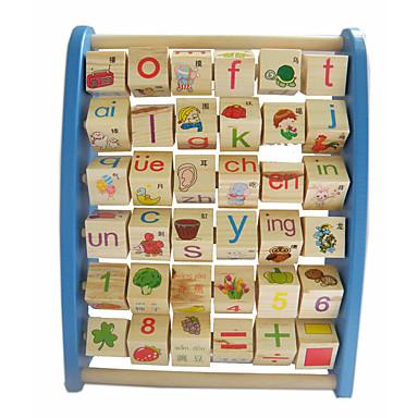 Výukové karty Stavební bloky Hračky Zábava Dřevo Dětské Pieces