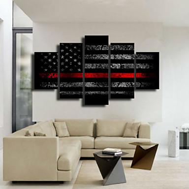 5 paneeli Horizontal Painettu Wall Decor For Kodinsisustus