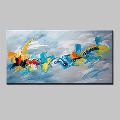 Pintados à mão Abstrato Horizontal, Estilo Europeu Modern Tela de pintura Pintura a Óleo Decoração para casa 1 Painel