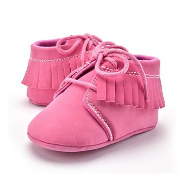 Para Meninas Sapatos Microfibra Verão Primeiros Passos Mocassins e Slip-Ons Cadarço / Mocassim para Crianças Rosa claro / Khaki / Festas & Noite