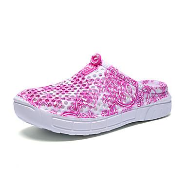 Damen Sandalen Leuchtende Sohlen maßgeschneiderte Werkstoffe Frühling Sommer Outddor Lässig Wasser-Schuhe Flacher AbsatzSchwarz Purpur