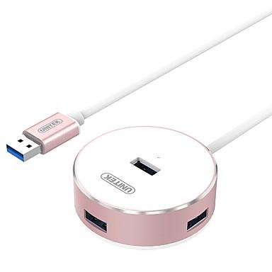 4 Hub USB USB 3.0 USB 3.0 Indicador de Polaridade / Com Mangement do fio Hub de dados