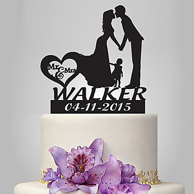 Cake Topper Romance / Wedding / Family Classic Couple Plastic Wedding with 1 pcs Poly Bag