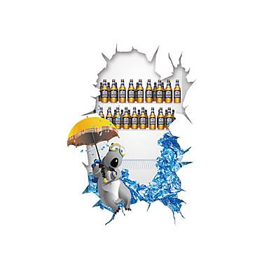 Autocolantes de Parede Decorativos - Autocolantes 3D para Parede Animais / Desenho Animado / 3D Sala de Estar / Quarto / Banheiro