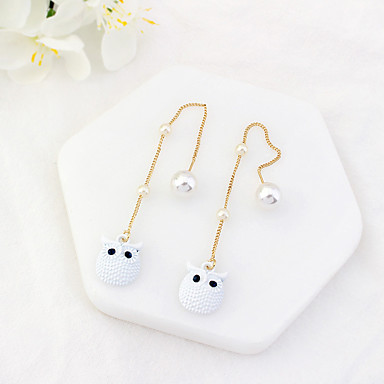 Women's Drop Earrings - Owl Fashion, Euramerican Black / Beige / Gray For Party / Daily