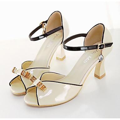Naiset Kengät Nahka Kevät Comfort Sandaalit Käyttötarkoitus Kausaliteetti Musta Manteli