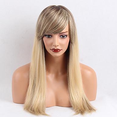 Perucas de cabelo capless do cabelo humano Cabelo Humano Liso Clássico Alta qualidade Fabrico à Máquina Peruca Diário