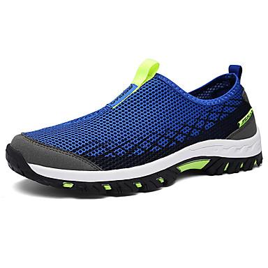 Mulheres Sapatos Tule Primavera/Outono Conforto Tênis Sem Salto Ponta Redonda para Ao ar livre Preto Fúcsia Azul Real