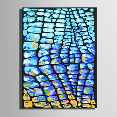Maalattu Abstrakti Pysty,Retro 1 paneeli Kanvas Hang-Painted öljymaalaus For Kodinsisustus