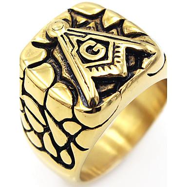 Herrn Ring Einzigartiges Design Logo Stil Klassisch Etikett Inspirationen Edelstahl Quadratisch Schmuck Besondere Anlässe Jahrestag