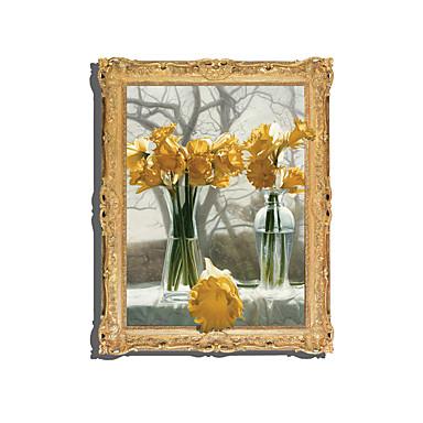 květiny 3D Samolepky na zeď 3D samolepky na zeď Světelné samolepky na zeď Ozdobné samolepky na zeď,Vinyl Materiál Home dekorace Lepicí