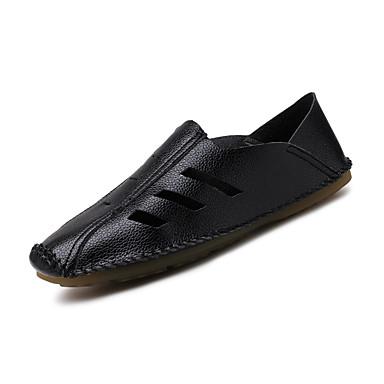 Herren Loafers & Slip-Ons Walking Neopren Frühling Sommer Ausgehöhlt Weiß Schwarz Flach