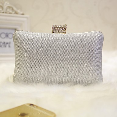 Women's Bags PU Evening Bag for Event / Party / Party & Evening / Club Gold / Black / Silver