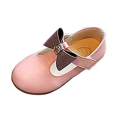 Para Meninas Sapatos Courino Verão / Outono Mocassins e Slip-Ons Caminhada Laço para Preto / Cinzento / Rosa claro