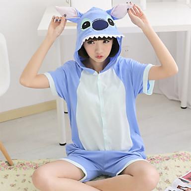 Kigurumi Pajamas Monster Leotard/Onesie Festival/Holiday Animal Sleepwear Halloween Patchwork Cotton Kigurumi For Unisex Halloween