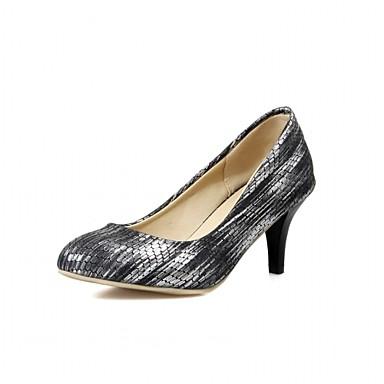 Mulheres Sapatos Couro Ecológico Courino Sintético Primavera Outono Inovador Conforto Saltos Caminhada Salto Agulha Ponta Redonda Poa para