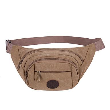 Waist Bag Durable Convenient for Canvas Solid Color Men's Women's Running Outdoor