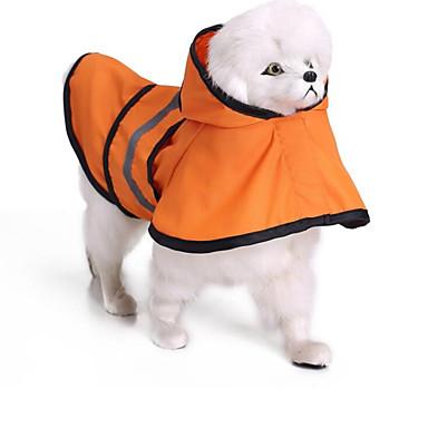 Kočka Pes Pláštěnka Oblečení pro psy Jednobarevné Oranžová Modrá Terylen Kostým Pro domácí mazlíčky Léto Pánské Dámské Běžné / Denní