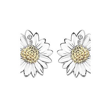 Dámské Peckové náušnice Květinový Stříbro Kytky Šperky Narozeniny Denní Kostýmní šperky