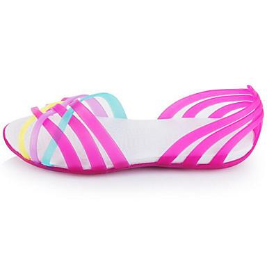 Naiset Sandaalit Kevät PVC Keltainen Fuksia Sininen Tasapohja