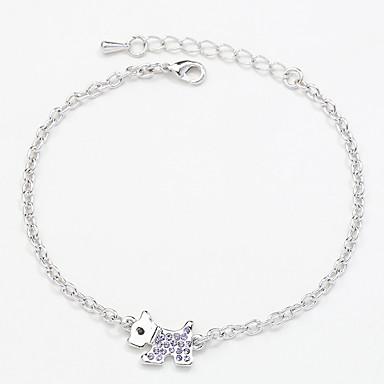 Dámské Řetězové & Ploché Náramky Šperky Vintage příroda Ručně Vyrobeno Módní Štras Slitina Bowknot Shape Šperky Pro Svatební Párty