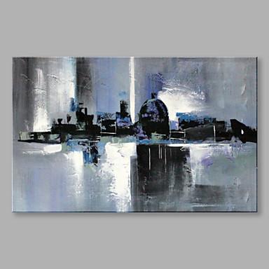Pintura a Óleo Pintados à mão - Abstrato Abstracto Tela de pintura / Lona esticada